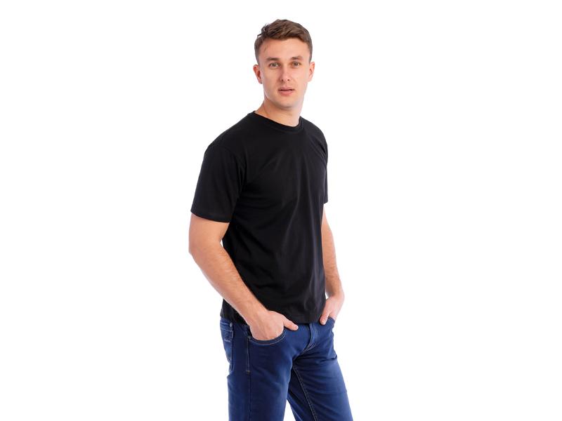 Vyriški marškinėliai (140g, Juoda spalva)