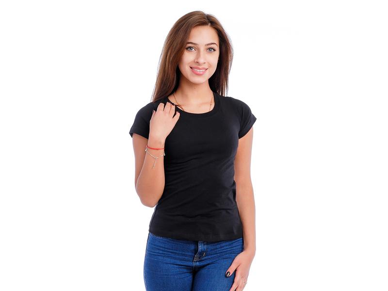 Moteriški marškinėliai (Juoda spalva)
