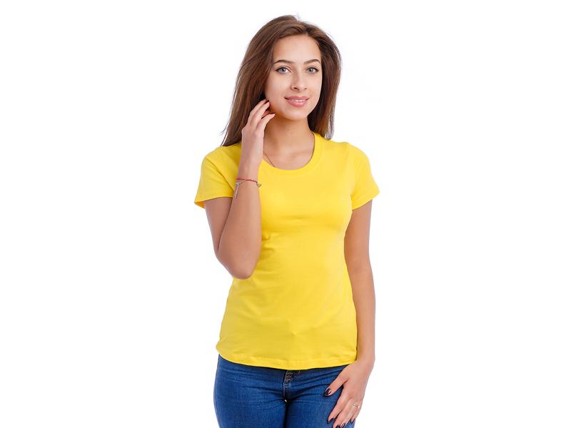 Moteriški marškinėliai (Citrininė spalva)