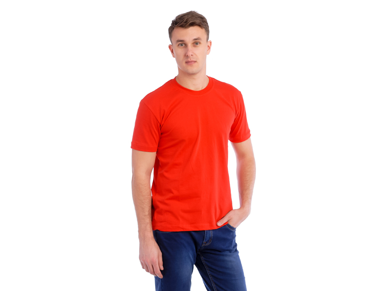 Vyriški marškinėliai (140g, Raudona spalva)
