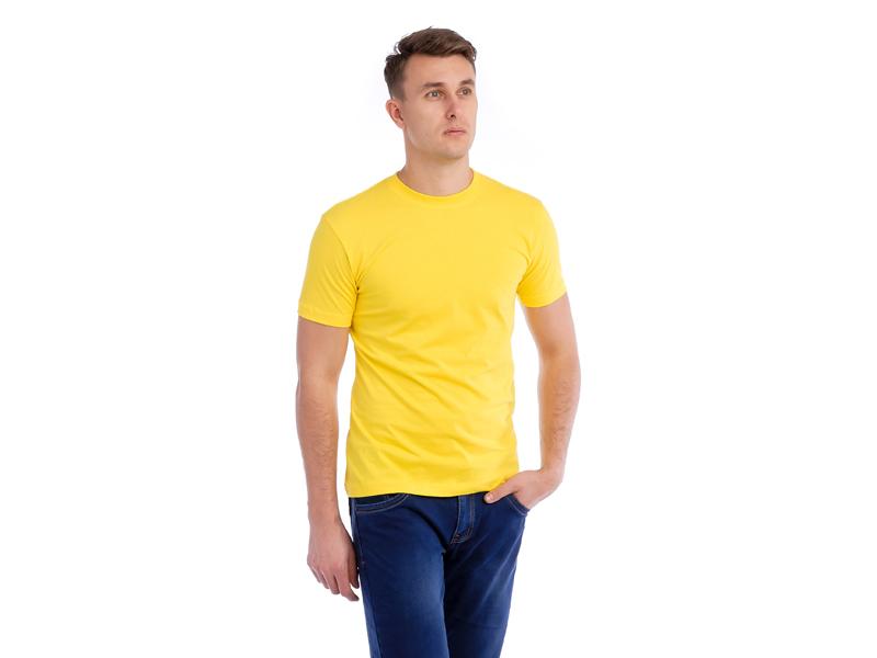Vyriški marškinėliai (140g, Citrininė spalva)