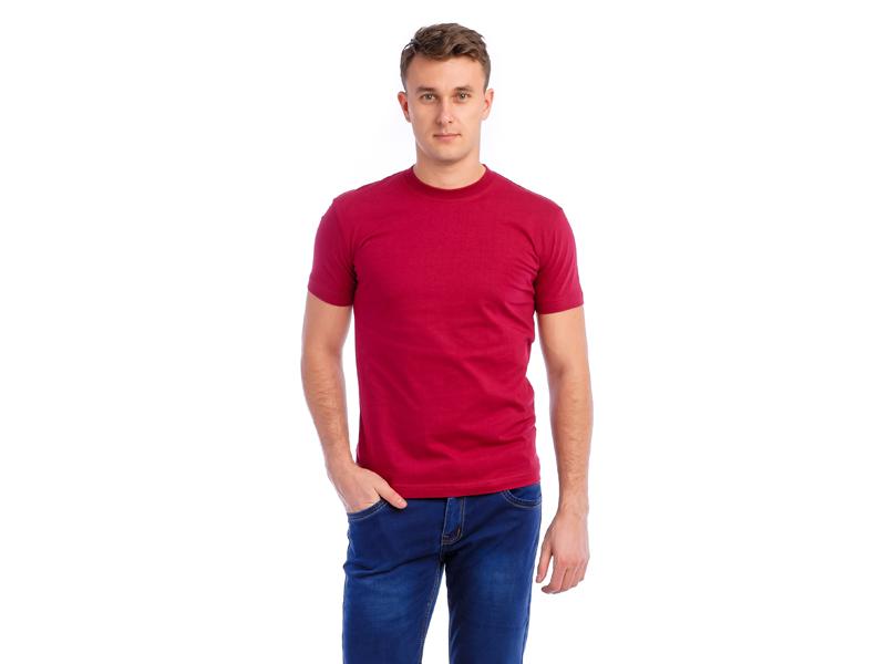 Vyriški marškinėliai (140g, Bordinė spalva)