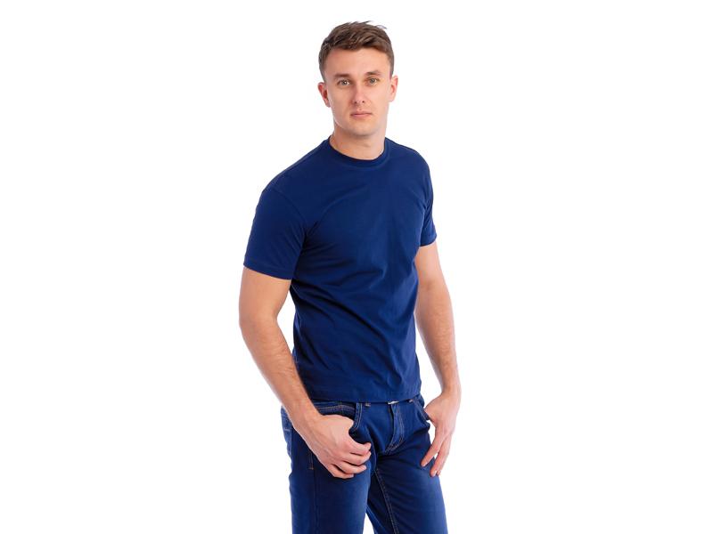 Vyriški marškinėliai (140g, T.mėlyna spalva)