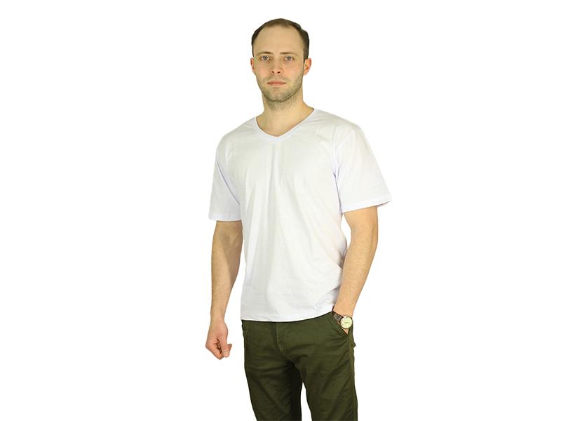 Vyriški marškinėliai (V.kaklu, Balta spalva)