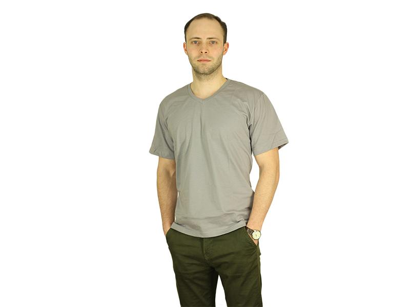 Vyriški marškinėliai (V.kaklu, Šv.pilka spalva)