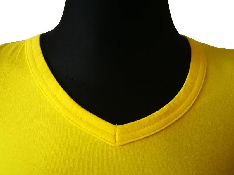 Moteriški marškinėliai  (V.kaklu, Citrininė spalva)