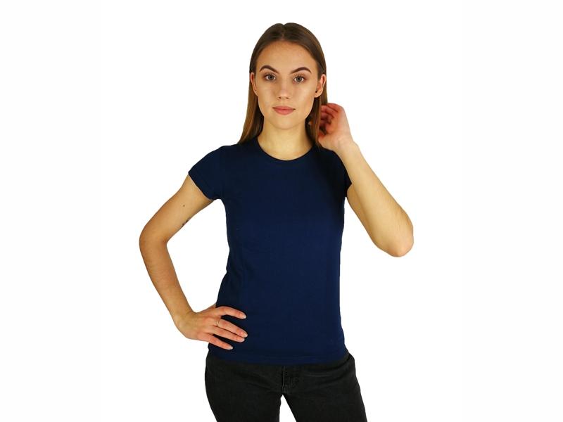 Moteriški marškinėliai  (140g, T. Mėlyna spalva)