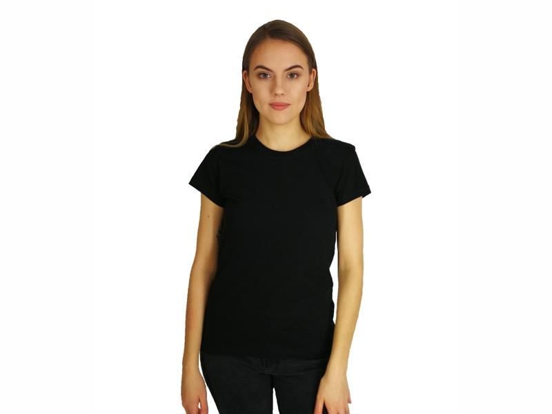 Moteriški marškinėliai  (140g, Juoda spalva)